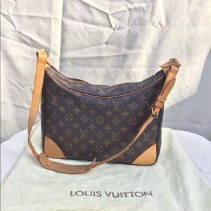 Louis Vuitton Boulogne 25 Brown Leather Satchel